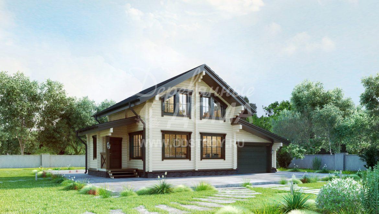 Начало строительства жилого дома из клееного бруса в д. Дегтярево (06.04.2018)