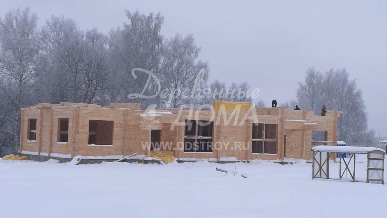 Продолжаются работы по строительству Гостевого дома в д. Песочнево (24.01.2018)