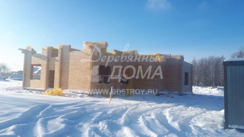 Продолжаются работы по строительству Гостевого дома в д. Песочнево (29.01.2018)