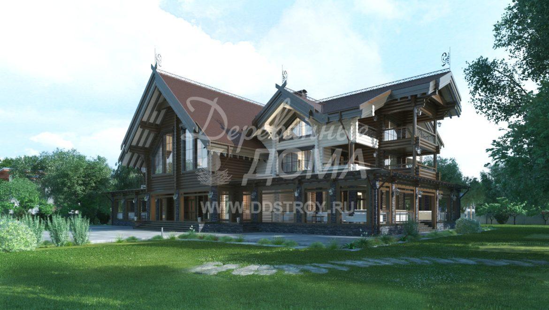 Завершены проектные работы гостинично-ресторанного комплекса из оцилиндрованного бревна(18.01.2018)