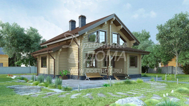 Завершены проектные работы жилого дома из оцилиндрованного бревна в г. Палех (14.02.2018)