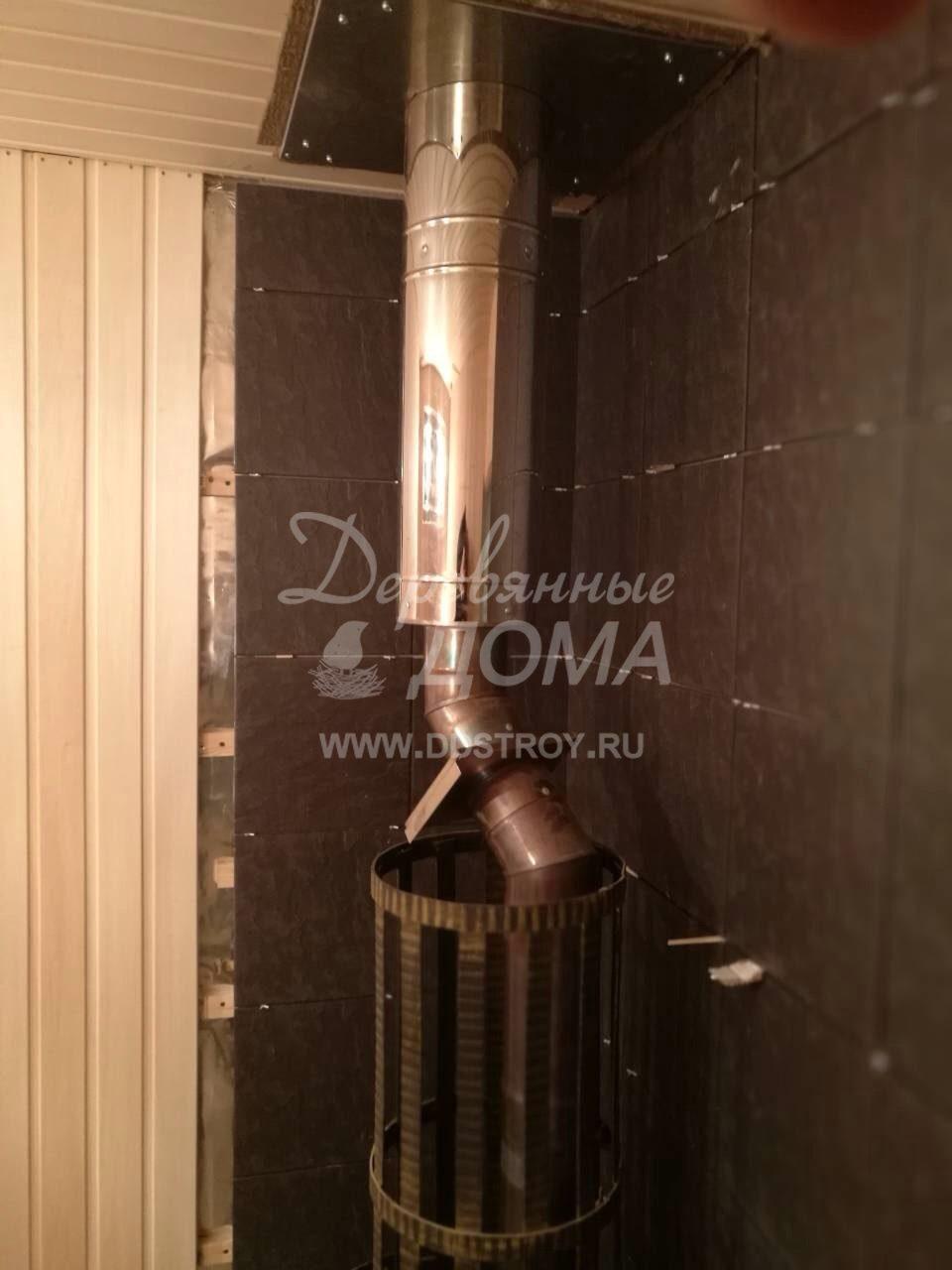 Продолжаются внутренние отделочные работы в бане д. Дегтярево (14.02.2018)