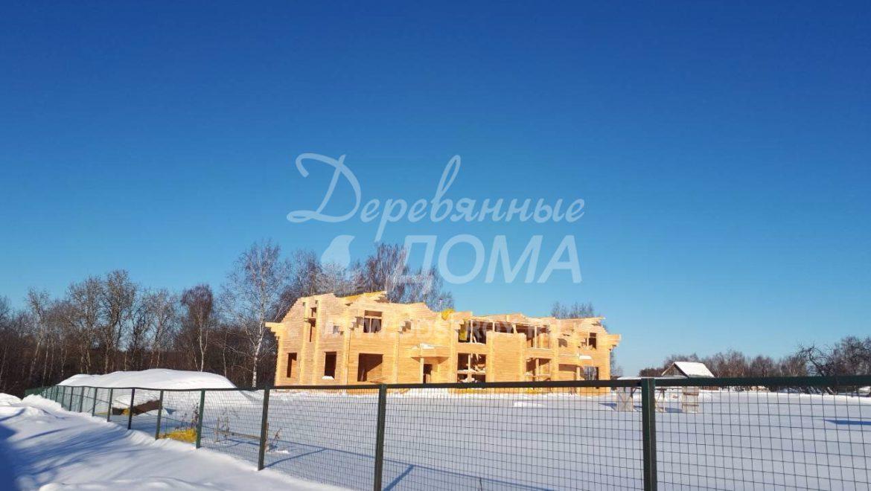 Продолжаются работы по строительству Гостевого дома в д. Песочнево (13.03.2018)