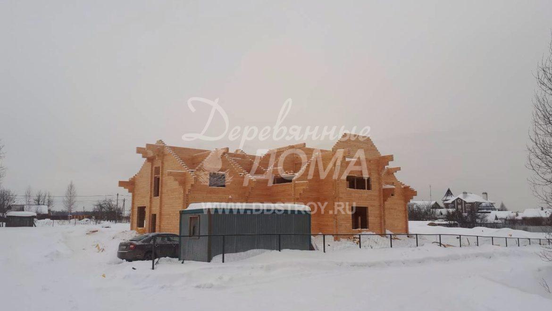 Продолжаются работы по строительству Гостевого дома в д. Песочнево (15.03.2018)