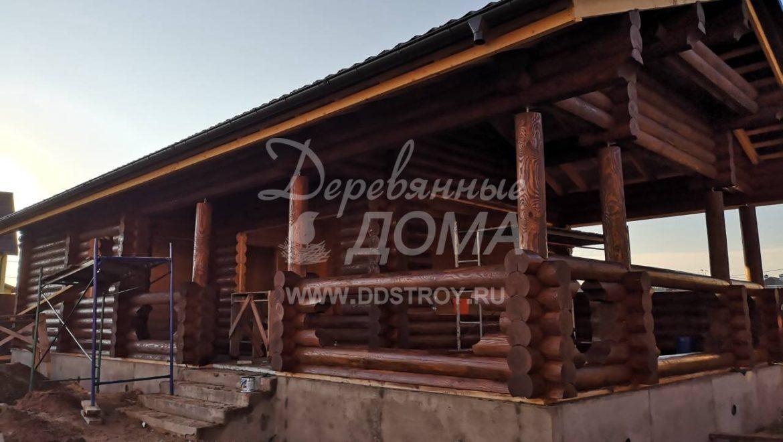 Ведутся работы по покраске Бани в м. Афанасово (03.07.2018)