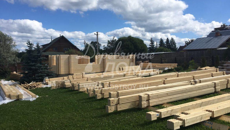 Ход строительства жилого дома из клееного бруса в д.Рожново(30.07.2018)