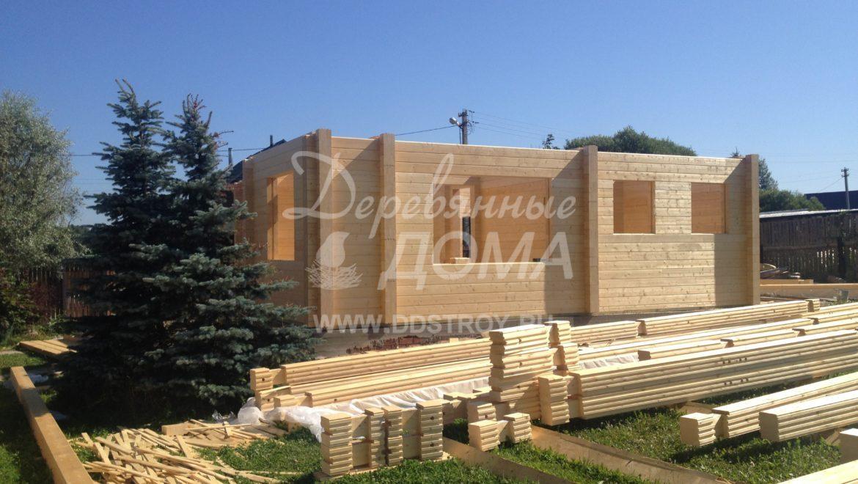 Ход строительства жилого дома из клееного бруса в д.Рожново(02.08.2018)