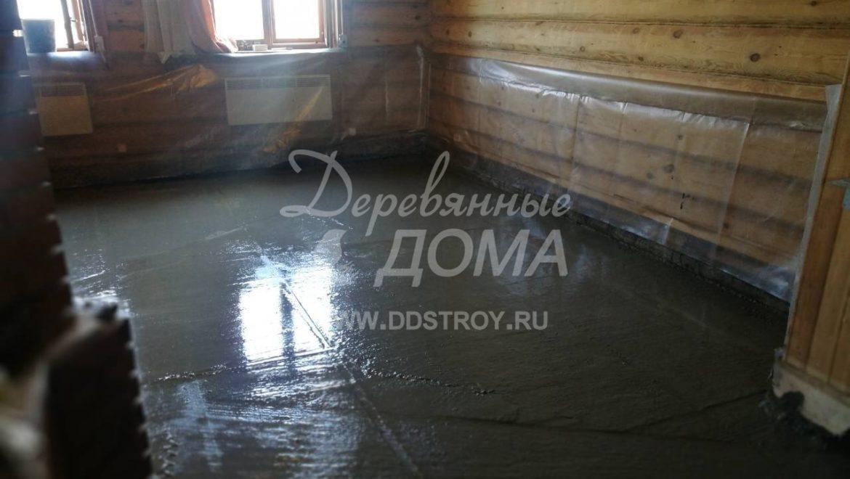 Устройство монолитных полов и устройство погреба в деревянном доме в д. Рожново (14.08.2018)