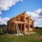 Завершена сборка деревянного комплекта дома из оцилиндрованного бревна в д. Никульское(17.08.2018)
