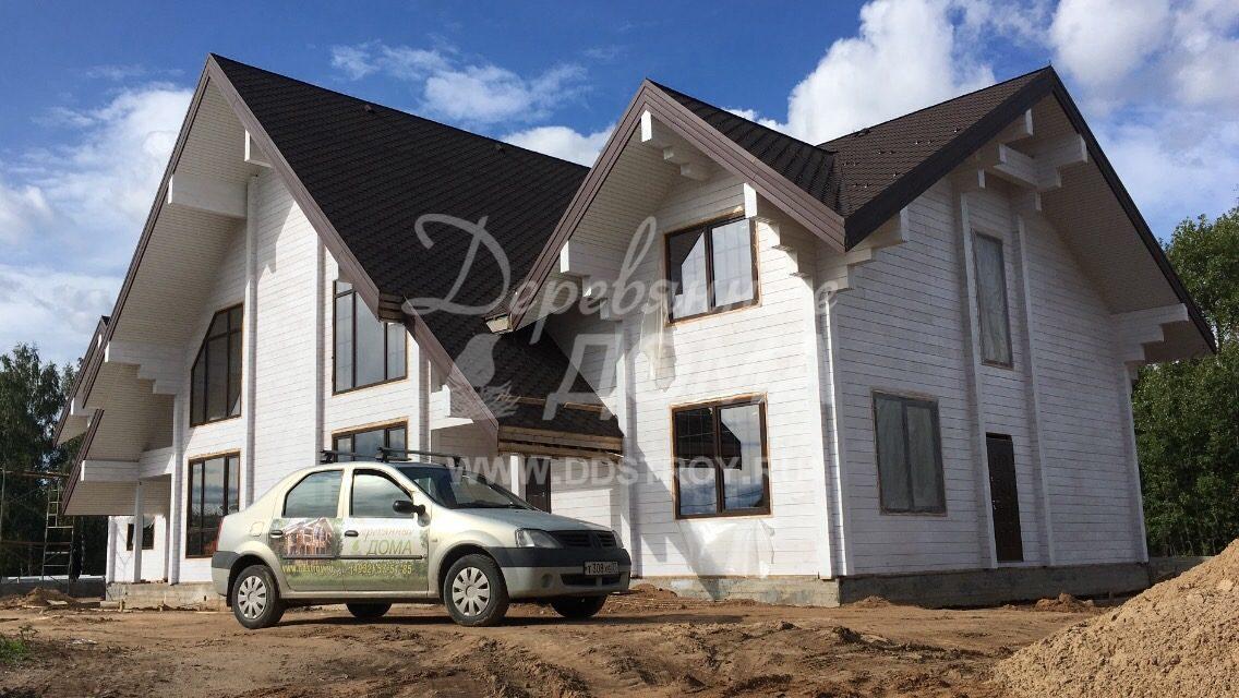 Продолжаются отделочные работы в доме из клееного бруса в д. Песочнево (30.08.2018)