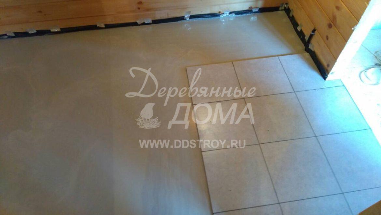 Продолжаются отделочные работы в бане из клееного бруса в д. Оболсуново (24.10.2018)
