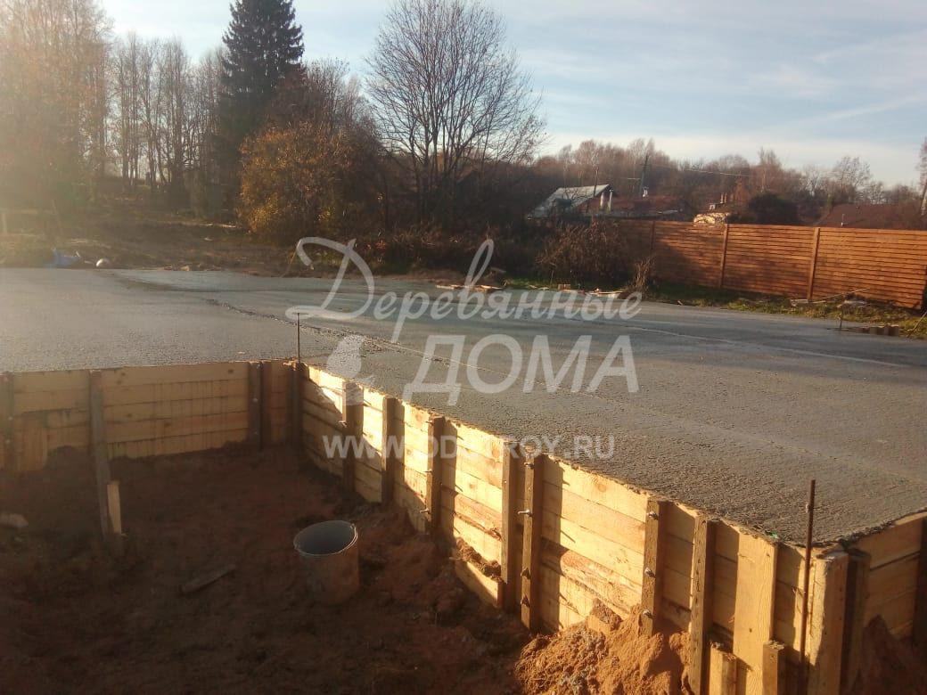 Устройство фундамента под строительство жилого дома в п. Палех (22.10.2018)