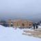Монтаж деревянного комплекта бани из оцилиндрованного бревна в д. Песочнево (31.01.2019)