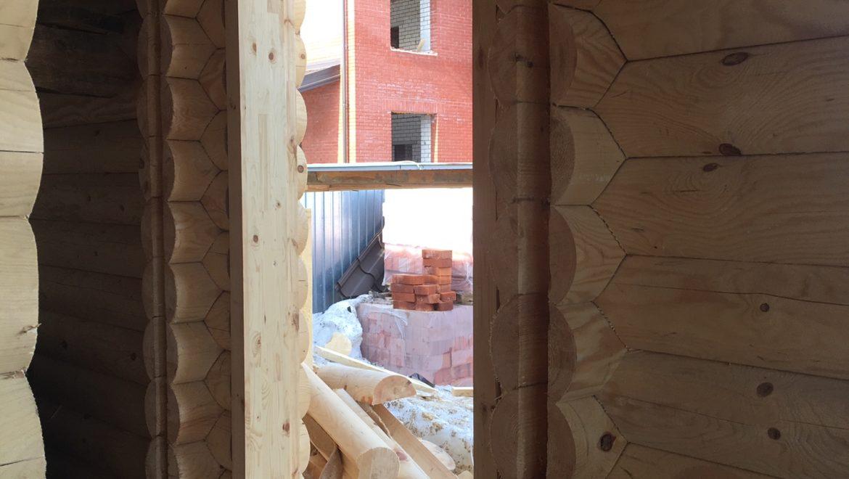Монтаж обсадной коробки в бане в м. Авдотьино (04.04.2019)