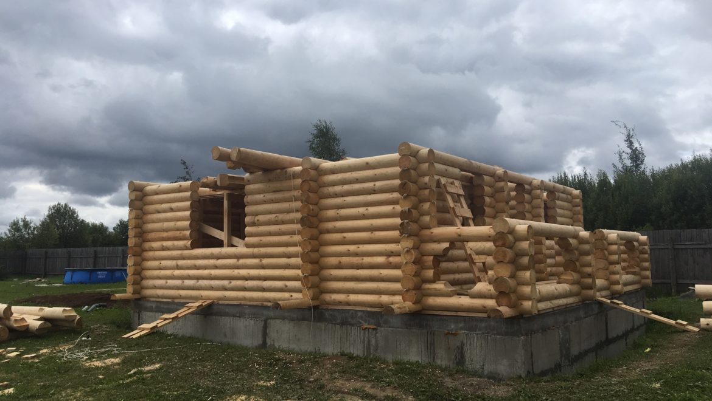 Монтаж деревянного комплекта в д. Анкудиново (01.08.2019)