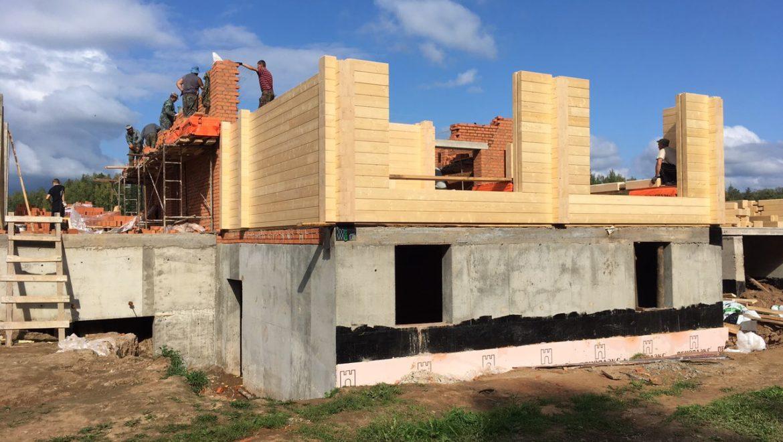 Работы по возведению жилого дома в д. Худынино (02.09.2019)