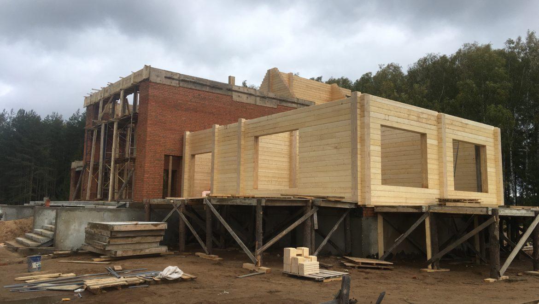 Ход работы по возведению жилого комбинированного дома в д. Худынино (24.09.2019)