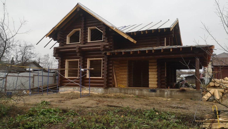 Установка оконных лафетов в рубленом доме (05.11.2019)