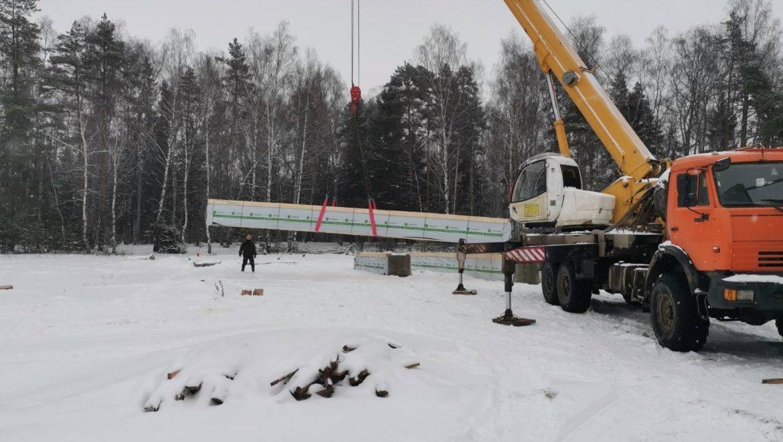 Доставка деревянного комплекта на строительный объект в д. Худынино (30.01.2020)
