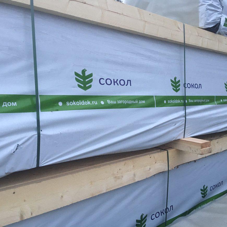 Доставка деревянного комплекта из клеенного бруса жилого дома в поселок «Сиеста». (02.04.2021 г.)