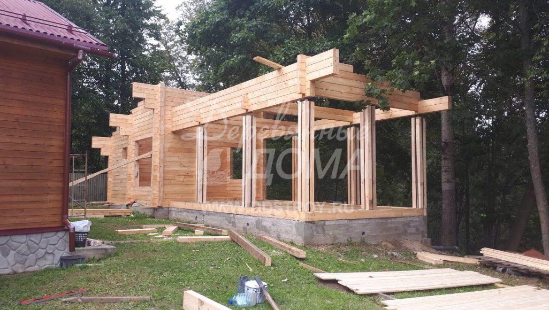 Продолжаются работы по строительству Банного комплекса в д. Оболсуново (6.09.2017)
