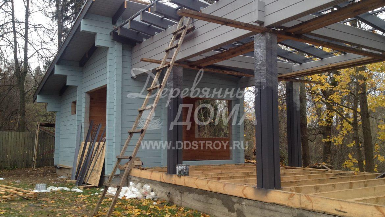 Продолжаются работы по строительству Банного комплекса в д. Оболсуново (16.10.2017)