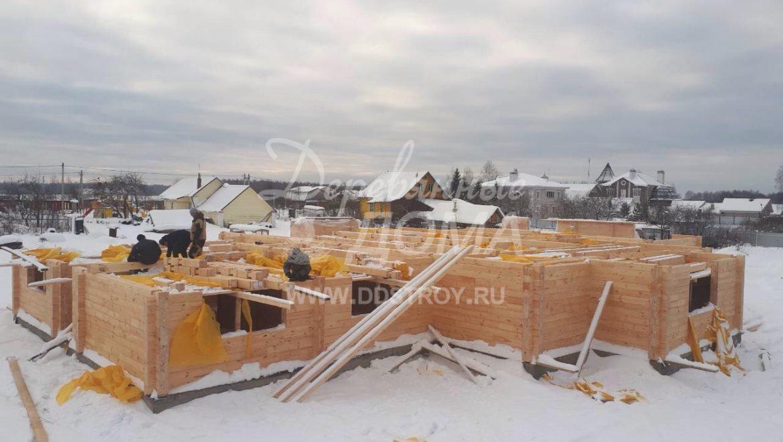 Продолжаются работы по строительству Гостевого дома в д. Песочнево (8.12.2017)