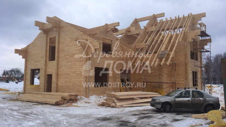 Продолжаются работы по строительству Гостевого дома в д. Песочнево (26.03.2018)