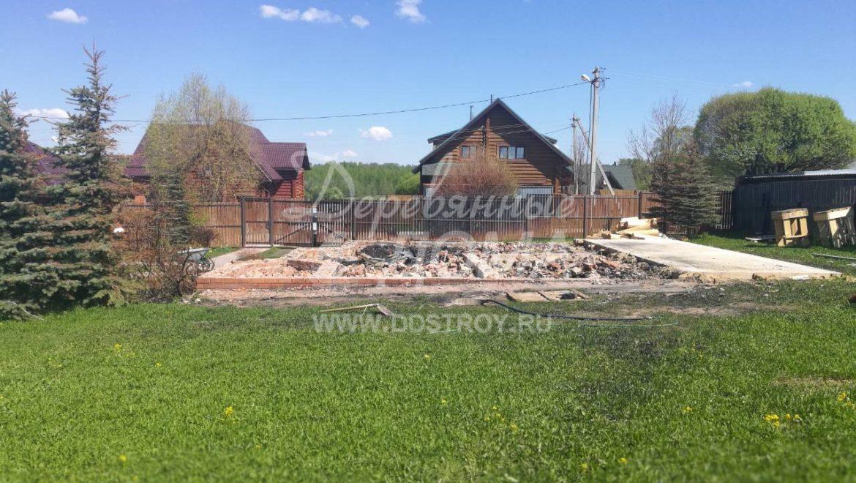 Ведется подготовка участка к устройству фундамента в д. Рожново (14.05.2018)