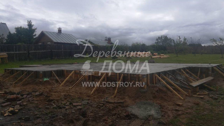 Завершены работы по устройству фундамента в д. Рожново(07.06.2018)
