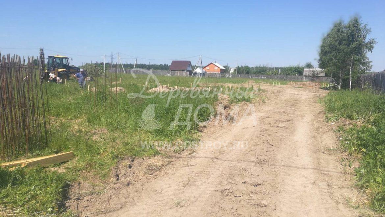 Начались работы по устройству фундамента под строительство дома и бани в д. Кочерский