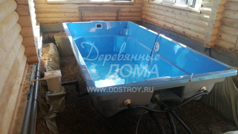 Устройство чаши бассейна и монтаж специального оборудования в д. Афанасово (16.08.2018)