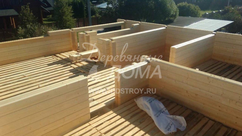 Ход строительства жилого дома из клееного бруса в д.Рожново(14.08.2018)