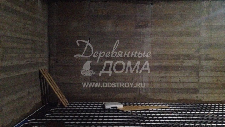 Устройство теплого пола в цокольном этаже в д.Песочнево (27.08.2018)