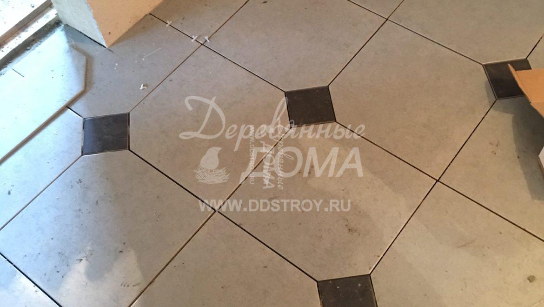 Продолжаются отделочные работы в бане из клееного бруса в д. Оболсуново (28.11.2018)