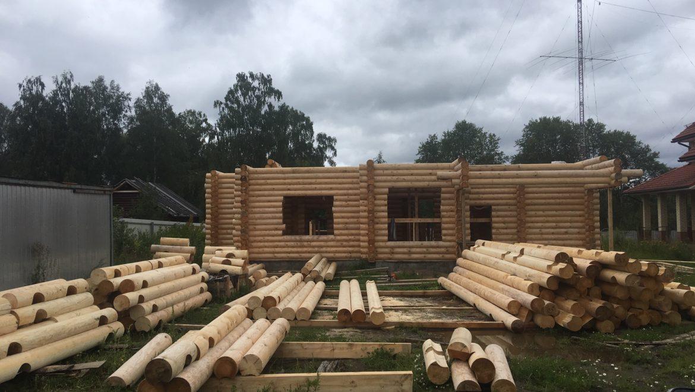 Монтаж деревянного комплекта в д. Песочнево (01.08.2019)