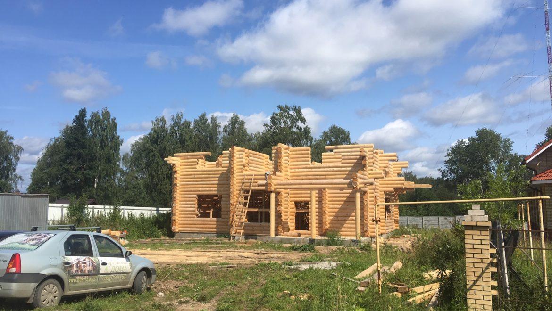 Монтаж деревянного комплекта в д. Песочнево (07.08.2019)