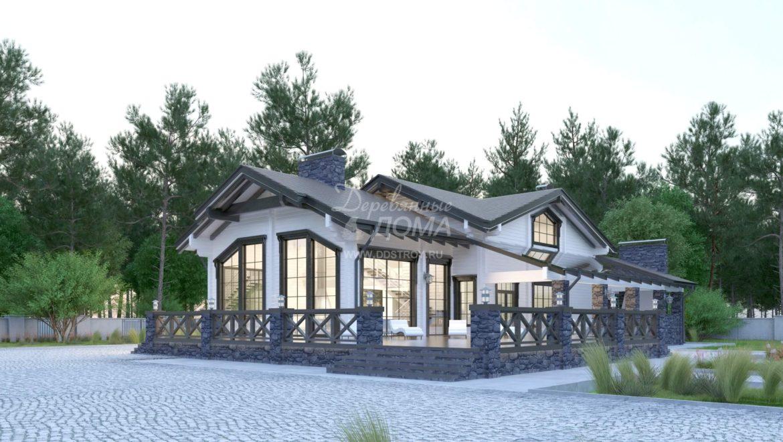 Начало работ по строительству бани из клееного бруса по проекту «Альпы» (589,77 м2) в д. Кривцово (18.09.2019)