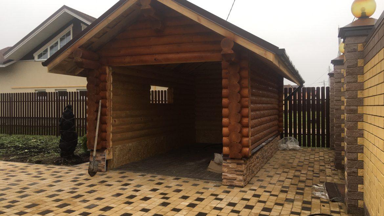 Завершены работы по монтажу хозяйственного помещения из оцилиндрованного бревна (13.11.2019)в м. Афанасово(