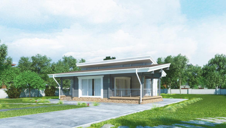 Ход работ по возведению стен деревянного комплекта, одноэтажного дома по проекту «Линда» в д. Худынино (24.01.2020)