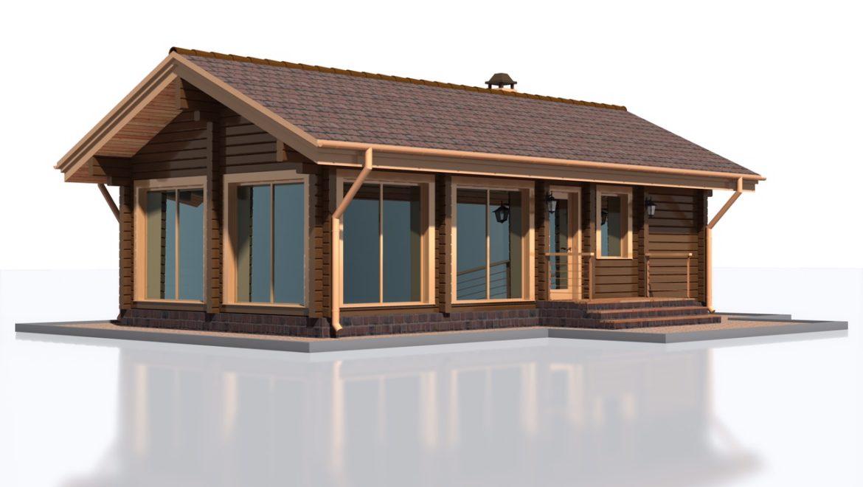 Устройство фундамента под баню из клеенного бруса, общей площадью — 60 м2, в поселке Озерный.