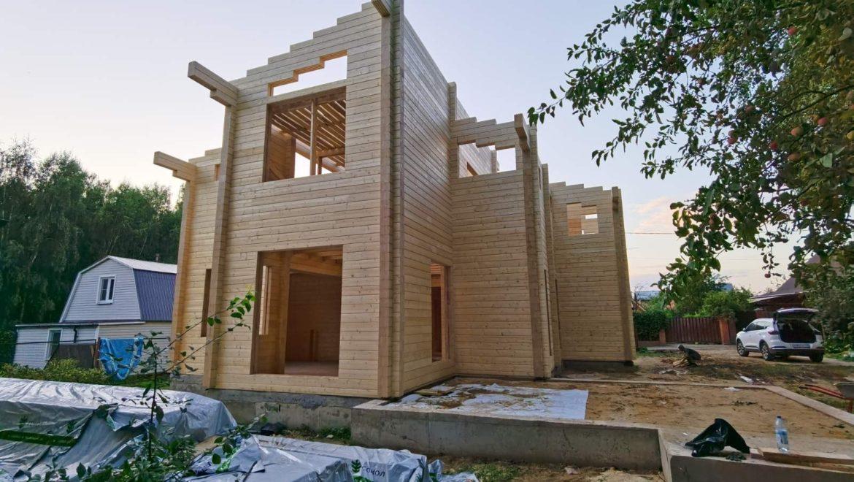 Завершена сборка деревянного комплекта жилого дома из клеенного бруса в СНТ «Энергетик», г. Москва. (16.08.2021)